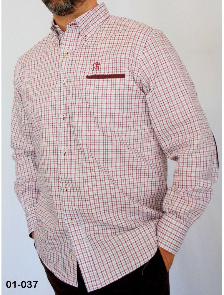 b3c16a07e Comprar camisa de cuadros granate para caza Pasion Morena al mejor ...