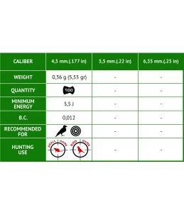 BALINES GAMO LETHAL 100U CAL4.5