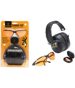 AURICULAR PROTECTOR AUDITIVO Y GAFAS BROWNING RANGE KIT