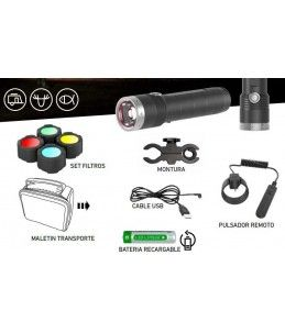 KIT LINTERNA LED LENSER MT10 1000 LUMENS RECARGABLE
