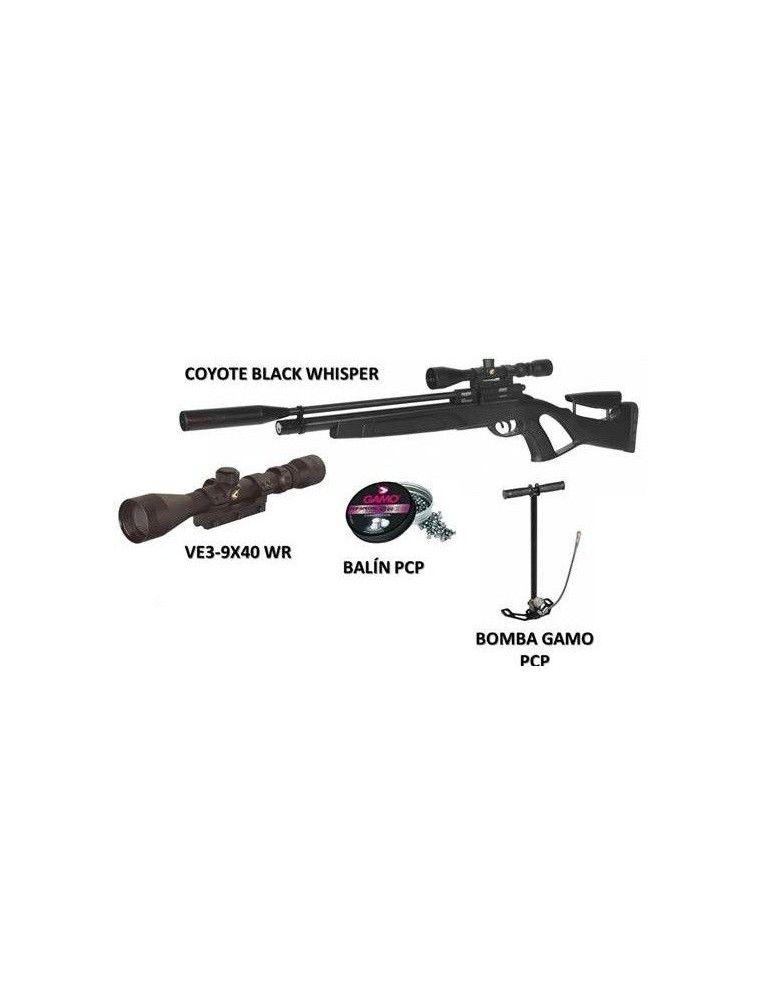 GAMO COYOTE BLACK WHISPER CARABINA PCP
