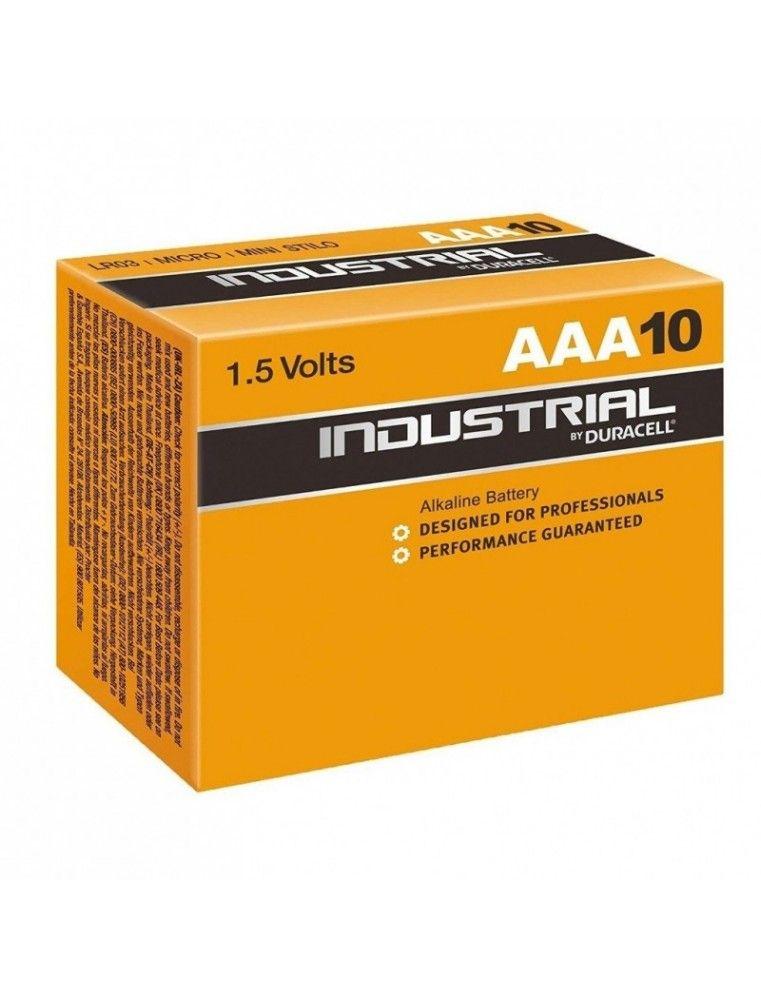 PACK 10 PILAS DURACELL INDUSTRIAL AAA ALKALINAS 1.5V