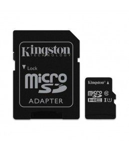 TARJETA MICRO SD + ADAPTADOR KINGSTON 16GB CLASE 10