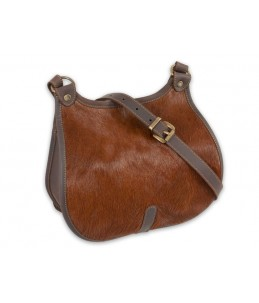 Huetter Bolsa de caza de cuero pullup de alta calidad en color marron oscuro